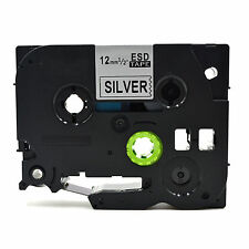 Compatible Label Tape TZ931 Tze931 12mm x 8m for Brother P-Touch Black On Silver