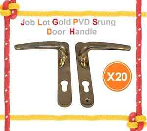 Job Lot X20 Gold Brass PVD Coated High Quality Sprung 92PZ Door Handles