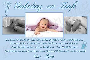 Details Zu 15 Foto Einladung Danksagung Karte Taufe Baby Danksagungskarten Einladungskarten