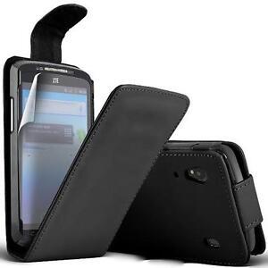 ZTE-Skate-V960-Housse-Etui-a-Clapet-cuir-eco-Noir-1-protection-ecran