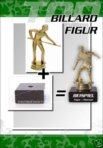 Pokale Billard günstig kaufen Pokal Figur Billard mit Gravur