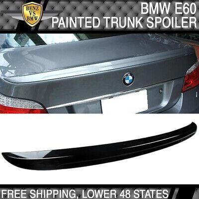 Fits 04-10 E60 Sedan 4-Door M5 Trunk Spoiler Painted #668 Jet Black