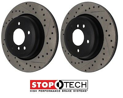 2 Rear Brake Rotors POWERSPORT *DRILLED /& SLOTTED* DISC BF05907