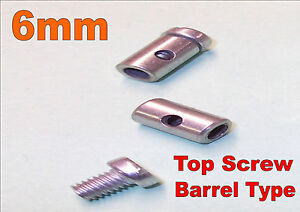 5-x-6mm-Solderless-Nipple-Screws-Motorcycle-Cable-Bolts-Top-Fitting-Barrel