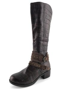 fb64443e0b1 Details about UGG Australia Esplanade Croc Brown Leather Knee High Boots  Womens Size 5.5 M*