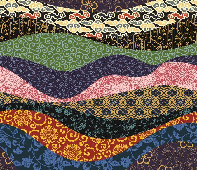 3D Japanese wave patternWallPaper Murals Wall Print Decal Wall Deco AJ WALLPAPER