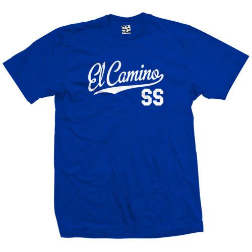 El Camino SS Script Queue Shirt Ss-Classic Muscle Voiture de course-Toutes Tailles /& Couleurs