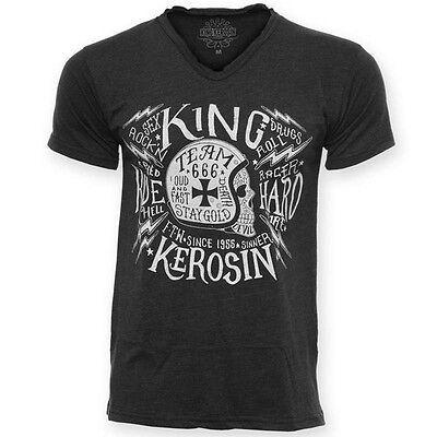 T Shirt King Kerosin Vintage Shirt Skull Motorcycle no Harley Biker Hot Rod