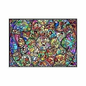 Disney Stained Glass Puzzle.Disney Stained Glass Style Jigsaw Puzzle All Star Mickey Minnie 500p 35x49cm Fs