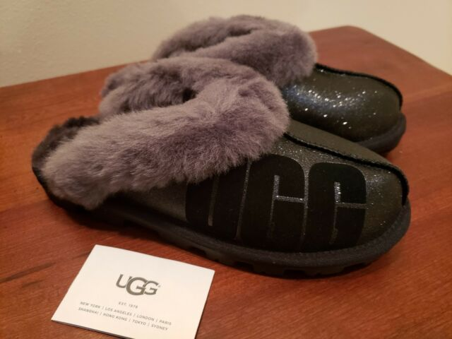 28232dba74d UGG Coquette Sparkle Slippers Woman's 8 or 39 Black