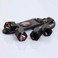 JDM TRD Tire Valve Stem Air Caps Car Wheel with emblem Key Chain Black UNVERSAL