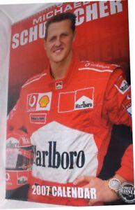 Diskret Michael Schumacher A3 Neu,ovp Jade Weiß Kalender 2007