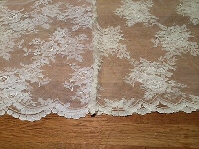Lace Fabric, scalloped edge on both sides 140cm wide