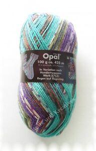 Opal-Hundertwasser-4fach-Regen-auf-Regentag-Sockenwolle-100-g