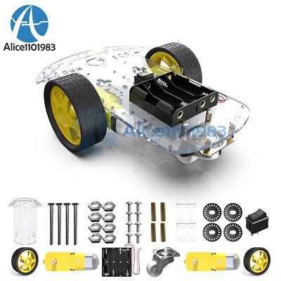 DC 3-6v Gear Motor for arduino Smart Car Robot ER 1//2//5pcs Plastic Tire Wheel