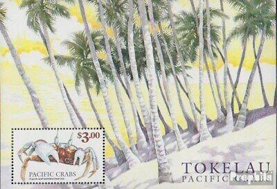 Romantic Tokelau Block18 Mnh 1999 Crustaceans Of Pazifiks Animal Kingdom