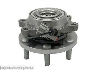Pour NISSAN FRONTIER D40 05-Essieu Avant Roue Roulement HUB Avec ABS complète x2