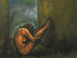 FEMALE-NUDE-Figurative-Art-18x24-Contemporary-Original-Large-Modern-OIL-PAINTING