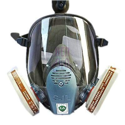 SJL 6800 Gas Mask Full Face Facepiece Respirator 7 Piece Suit Painting Spraying