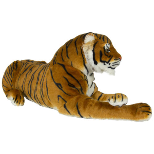 Large Tiger Orange Plush Animal Realistic Big Cat Bengal Soft Stuffed Toy Pillow