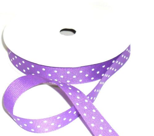assortiment de cols 13mm grosgrain ruban avec imprimé points blancs 3 mtr Rouleau 8066dd