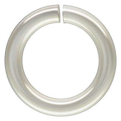 Sterling Silver .925 8mm OPEN Jump Rings. 18 Gauge. Approx. 25 Pieces