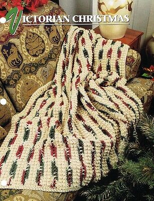 Victorian Christmas  Annie's Attic  Crochet Afghan Pattern Instructions