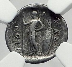 PHARKADON-THESSALY-420BC-Authentic-Ancient-Silver-Greek-Coin-ATHENA-NGC-i65205