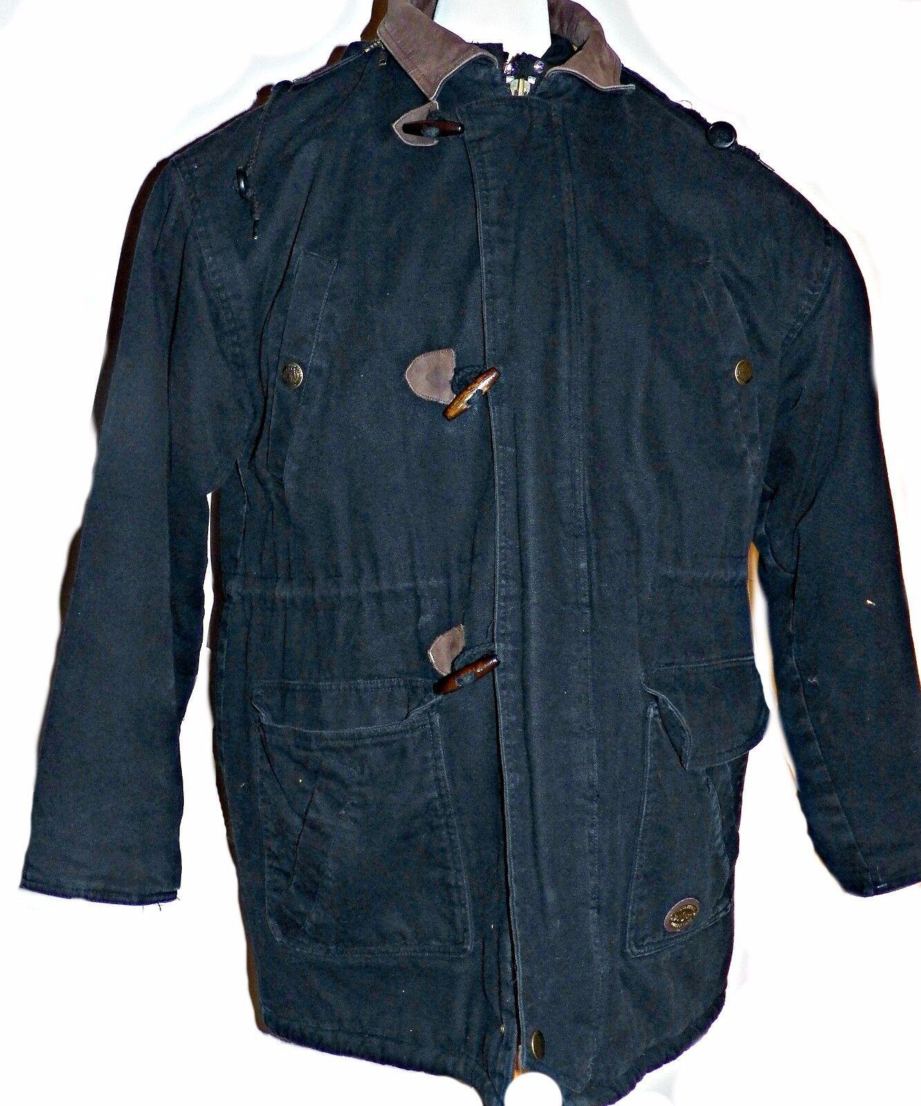 Tweed River Outfitters Noir Toile de Coton Chasse Chasse Chasse Pêche Veste Grange Manteau L 4633e1