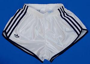 Details zu Vintage Adidas Shiny Nylon Sprinter Shorts Glanz Sporthose size XS S Note Slim