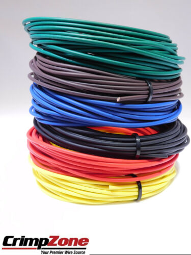 150 FEET 18 GAUGE GXL HIGH TEMP AUTOMOTIVE PRIMARY WIRE 6 COLORS 25 FT EACH