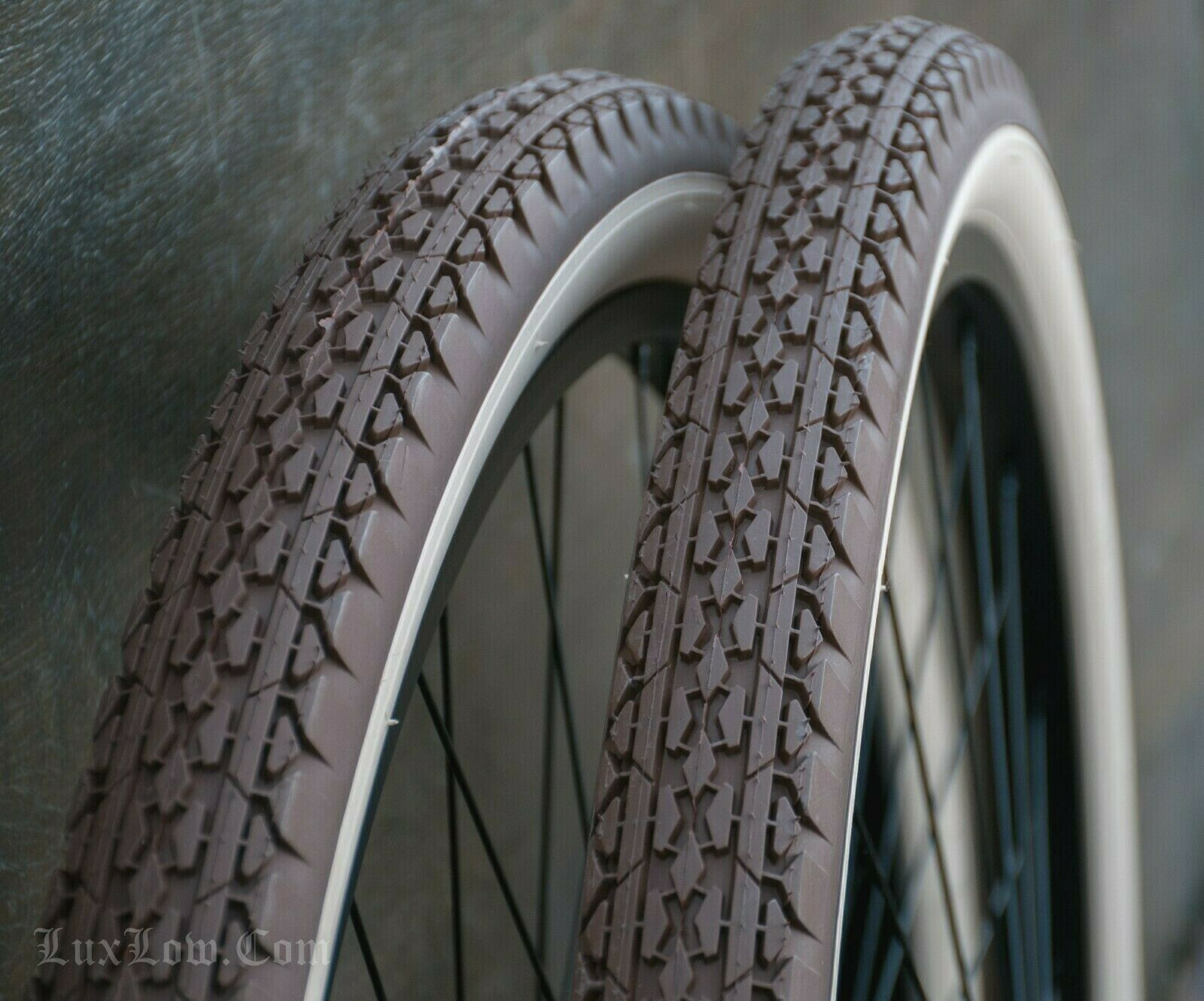 26 BrownClayRedCream Whitewall TIRES Vintage Prewar Schwinn Bicycle Cruiser Bike