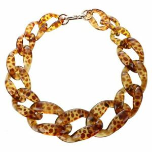 big-plastic-Chain-Necklace-Fashion-jewelry-Leopard-Print-Z7F2