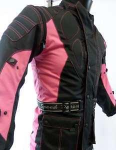 Speed 2 Kids Childrens Textile Motorcycle Motorbike Jacket Baby Biker Pink T