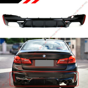 Details about M5 Style Glossy Black Rear Diffuser For 17-19 BMW G30 5  Series W/ M Sport Bumper