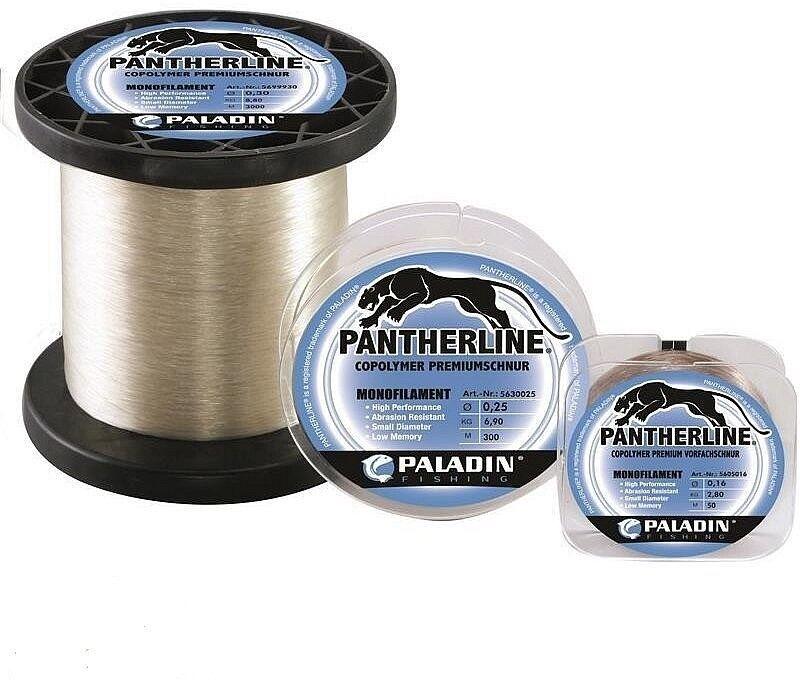 PALADIN PANTHERLINE 3000 3000 3000 m Monofile Angelschnur 0.14 mm bis 0.28 mm transparent adb10b