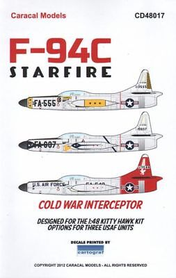 Sito Ufficiale Caracal Decals 1/48 Lockheed F-94c Starfire #48017