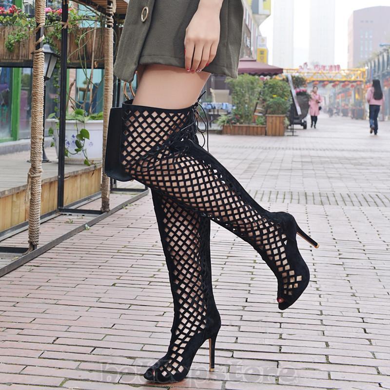 Damen Schuhe Pumps Elegant Fashion Stiletto High heels Sexy Sommer Loch Gr32-46