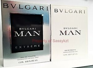 BVLGARI Man   Man Extreme eau de Toilette men s sample spray vial 2 ... 73a1053156