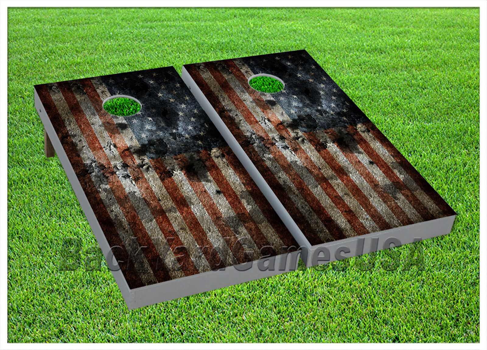 American Flag USA CORNHOLE BEANBAG TOSS GAME w Bags Game Boards Set 998