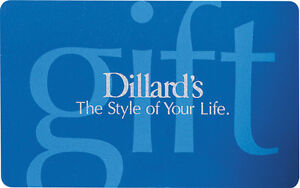 $50 Dillard's Gift Card - Mail Delivery | eBay