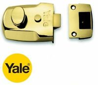YALE BRASS 60mm P77M/BLX NIGHT LATCH NIGHTLATCH LOCK CASE ONLY - NO CYLINDER