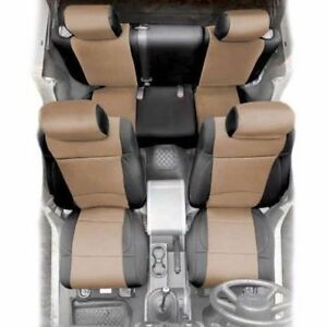 Front Rear Neoprene Seat Covers Tan For Jeep Wrangler Jk 08 12 4