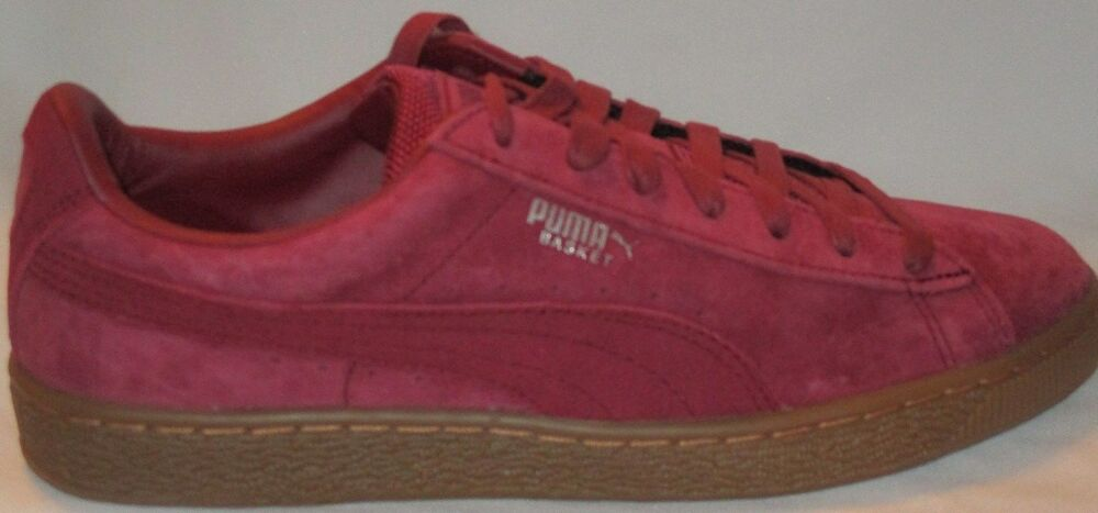 MEN'S PUMA SUEDE CLASSIC+  athlétique HIGH RISK-blanc chaussures Taille 8.5