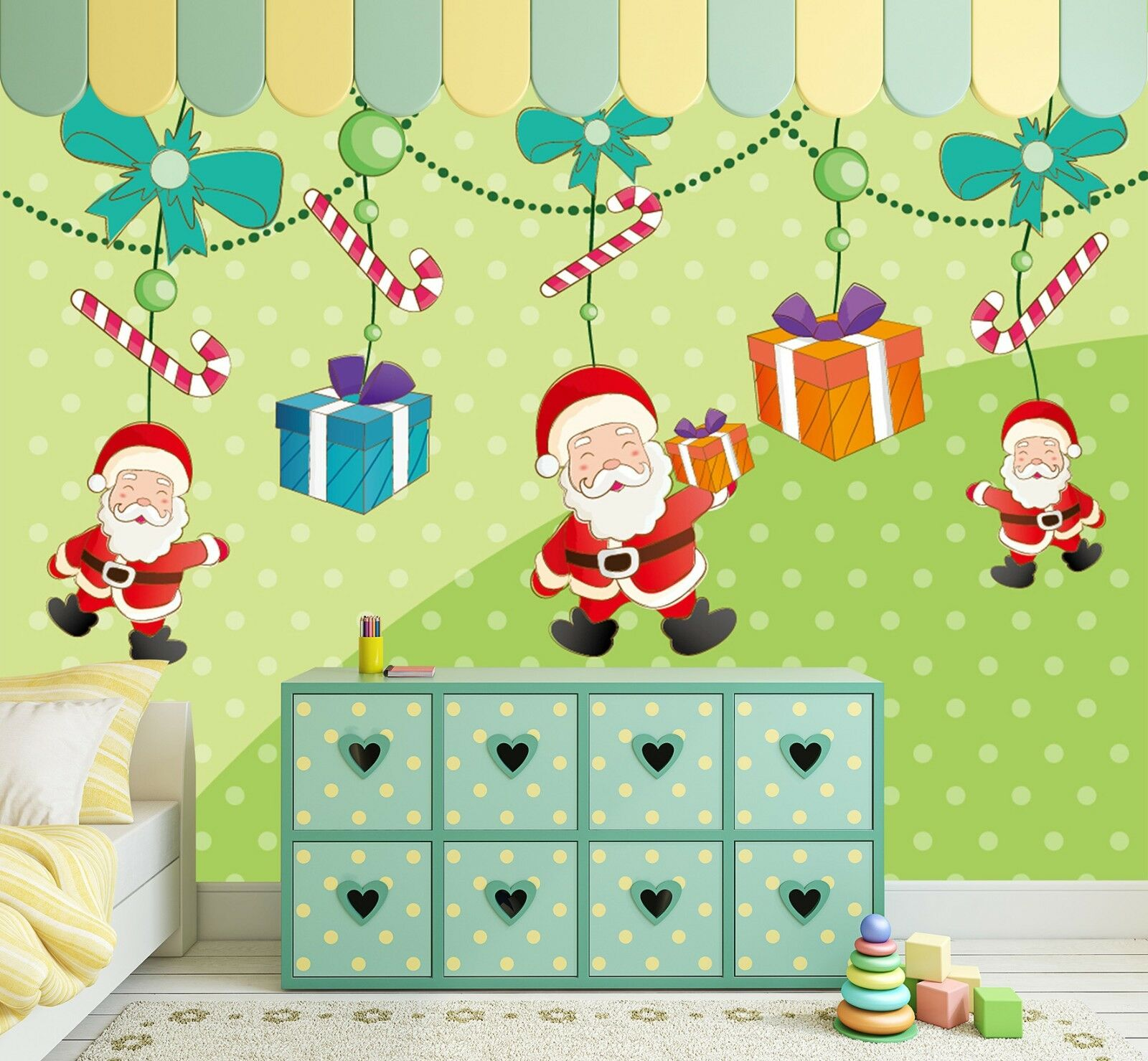 3D Santa Claus Gift 698 Wallpaper Murals Wall Print Wallpaper Mural AJ WALL AU