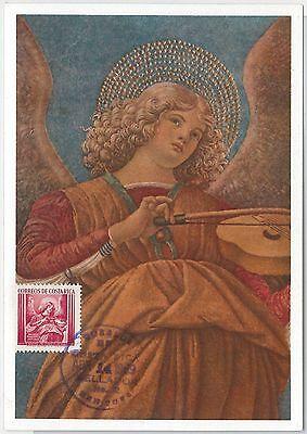 Dynamic Maximum Card - Art / Christmas: Melozzo Angel - Costa Rica 1969 Save 50-70%