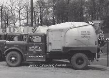 1948 CABINET PHOTO CANTON OH BUCK HILL CONCRETE AUTOCAR TRUCK FLEET