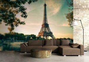 Photo-Papier-Peint-Mur-Mural-366x254cm-Paris-France-Tour-Eiffel-Vert-143x100inch