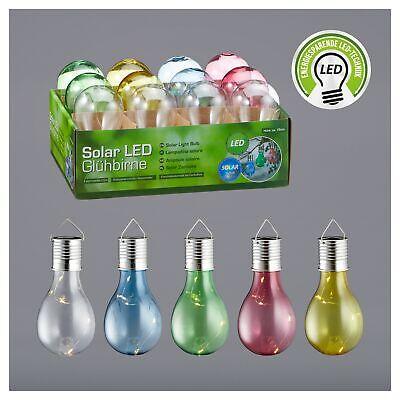 6x Solar Glühbirne mit LED Lichterkette Hängelampe Gartendeko Partydeko bunt