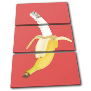 Banana-Cigarette-Concept-Food-Kitchen-TREBLE-CANVAS-WALL-ART-Picture-Print